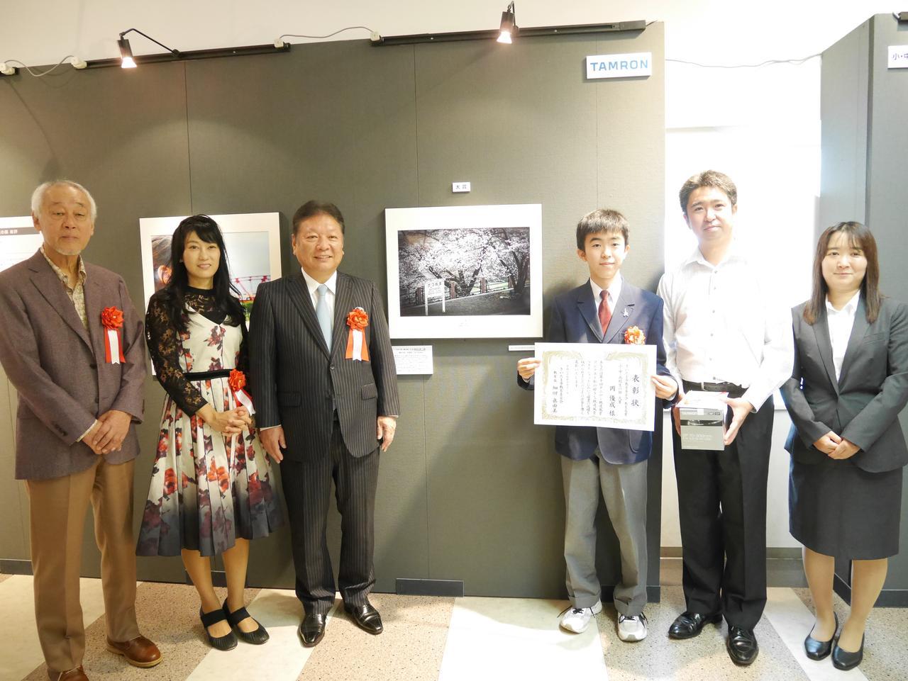 画像: 小・中・高校生の部大賞の岡優成さん。14歳と思えないような作品でびっくりした。