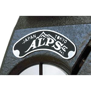 画像: 市販第一号三脚「アルプス」に使用していた銘板を復刻