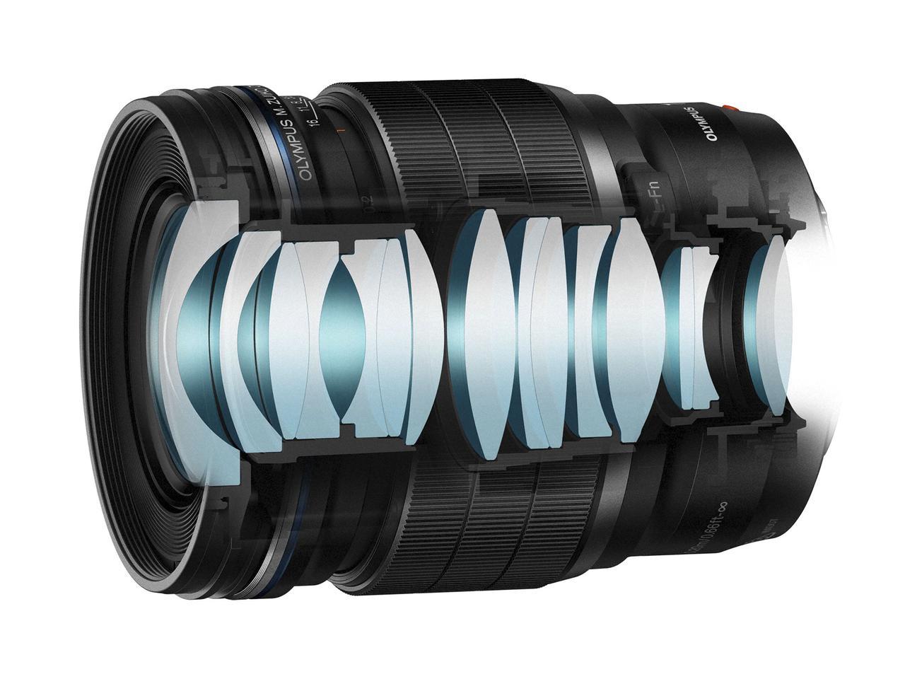 画像: ▲M.ZUIKO DIGITAL ED 17mm F1.2 PROのレンズ構成。 www.olympus-imaging.jp