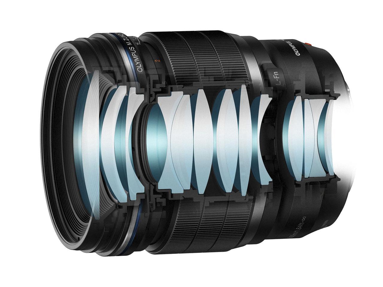 画像: ▲M.ZUIKO DIGITAL ED 45mm F1.2 PROのレンズ構成。 www.olympus-imaging.jp