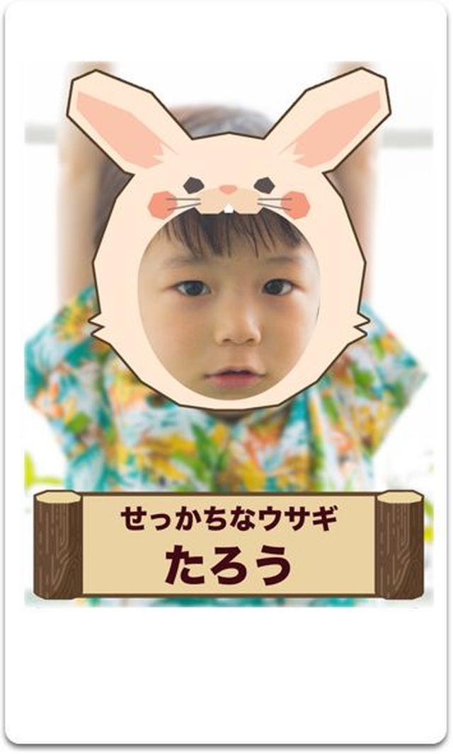 画像: その動物のイラストと本人の顔写真が合成された画像とともに、チェキプリントで診断結果が得られる。
