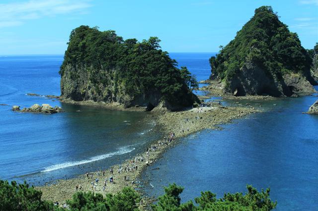 画像: 三四郎島のトンボロ