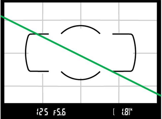 画像: 斜めのラインは角から角だと面白みのない画になりやすいので、角から辺、もしくは傾斜は保ちつつも辺から辺にしましょう。