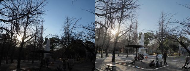 画像: こういうのは分かりやすいですね。完全逆光。プラス補正では空は真っ白になるはずなので。