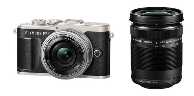 画像: ▲EZダブルズームキット。「M.ZUIKO DIGITAL ED 14-42mm F3.5-5.6 EZ」と「M.ZUIKO DIGITAL ED 40-150mm F4.0-5.6 R」の組み合わせとなる。 www.olympus-imaging.jp
