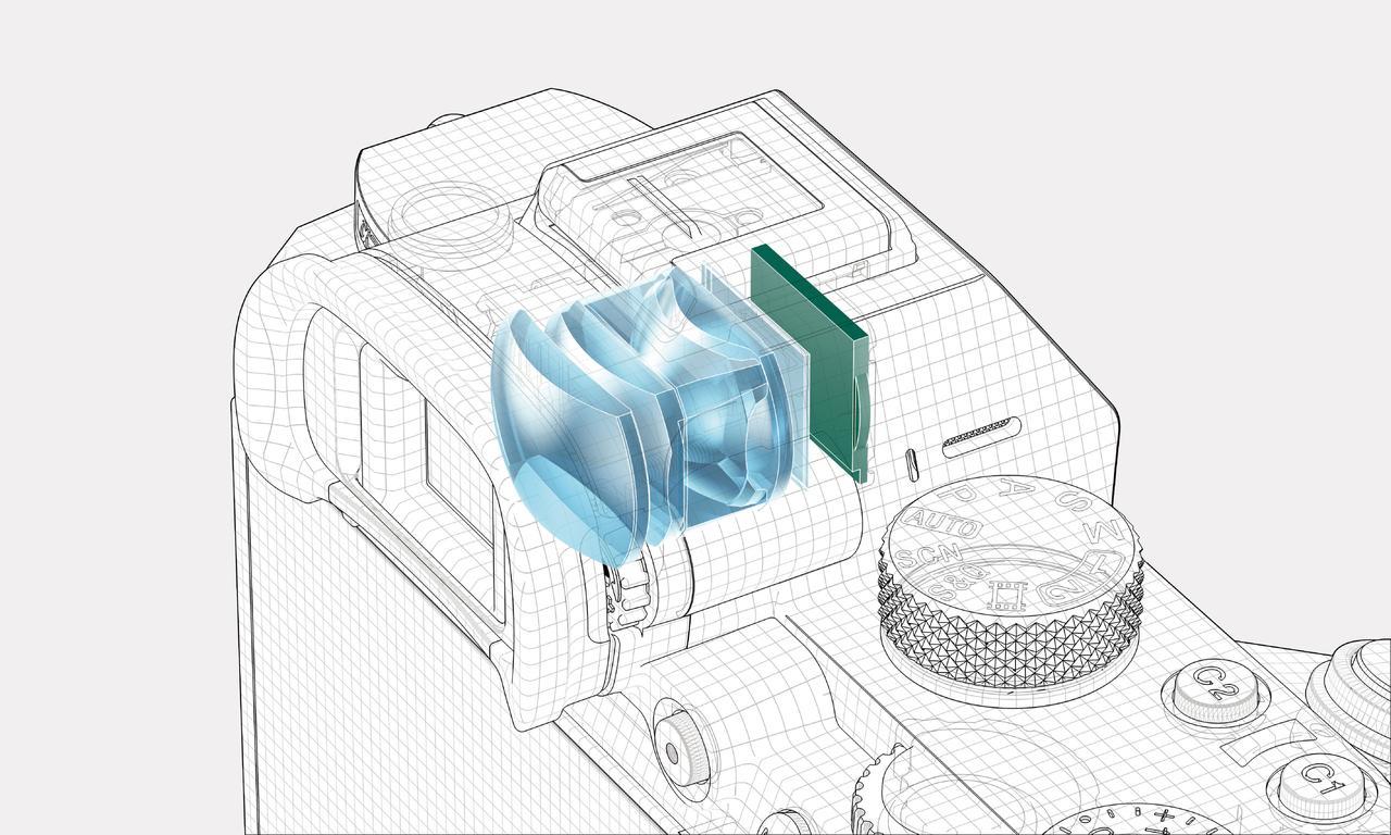 画像: ▲EVFは高解像・高コントラスト・高速起動の「XGA OLED  Tru-Finder」でファインダー倍率は0.78倍と見やすい。