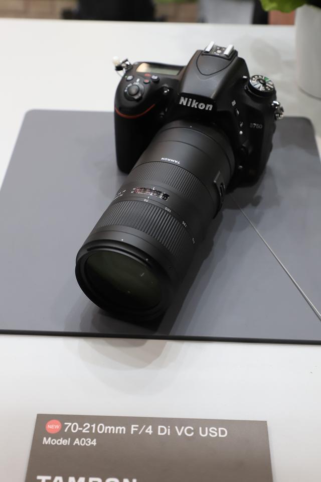 画像: 4月発売予定の「70-210mm F/4 Di VC USD (Model A034)」も展示!
