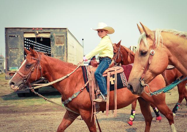 画像: 【文部科学大臣賞】タイトル:-若者たちの挑戦- アメリカ・モンタナ州 Richland Youth Rodeo Contestants 受賞者:影田篤俊