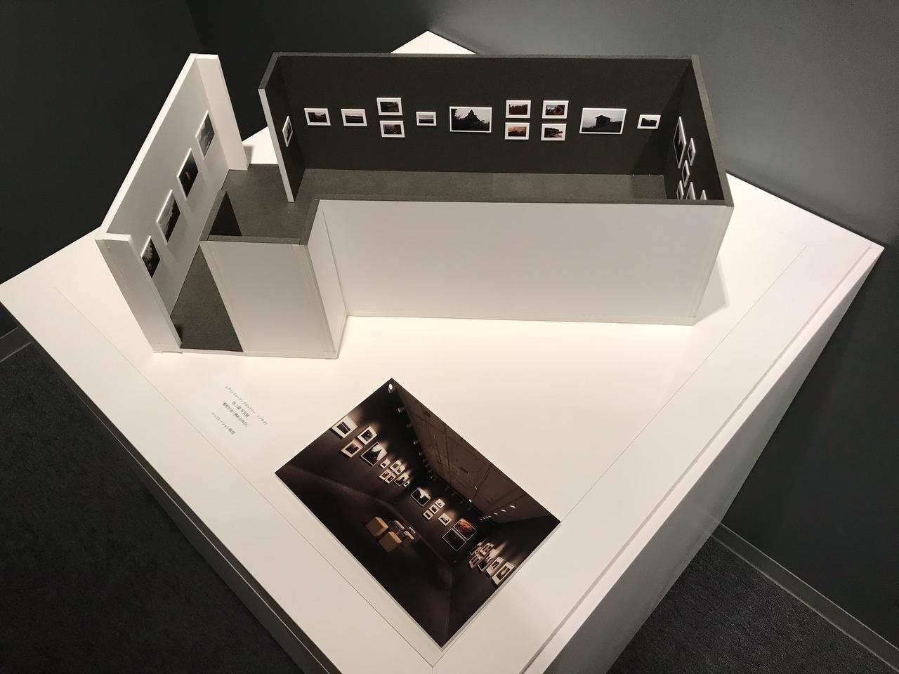 画像: ▲写真展をエプサイトで開催するイメージを模型として紹介した展示。