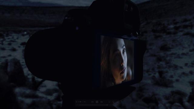 画像: 動画の一場面より。かなり暗いが背面モニターに映し出された画像のよう