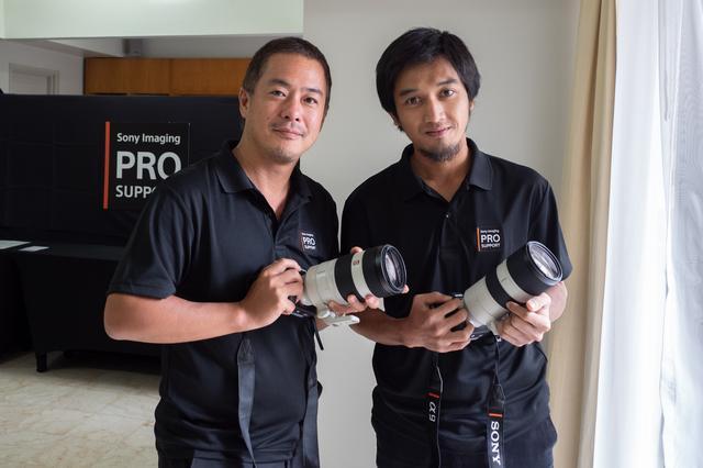 画像: ▲現地でのサポートを担当する兄井宏史さん(左)とアビー・セティア・ラマダンさん(右)。