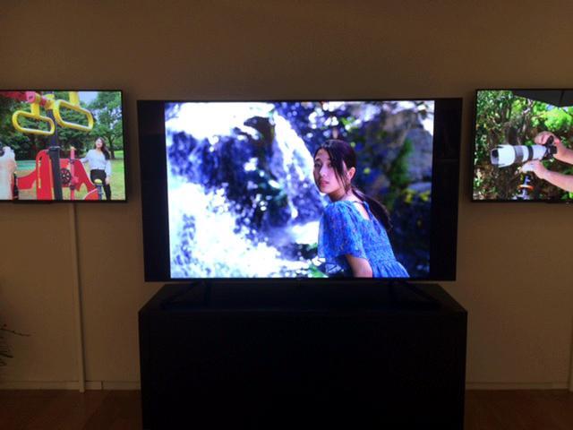 画像: 作品はソニー製テレビ「ブラビア」49インチでも見られます。