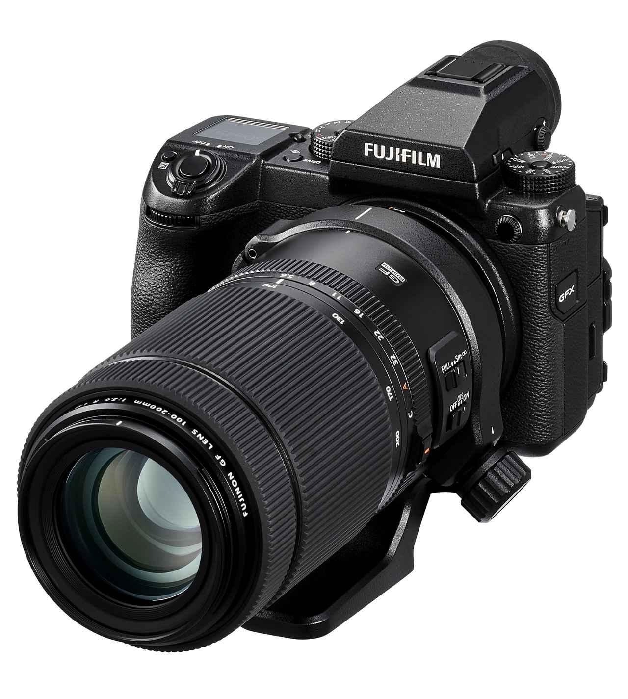 画像: GFX 50Sに装着したGF100-200mmF5.6 R LM OIS WR