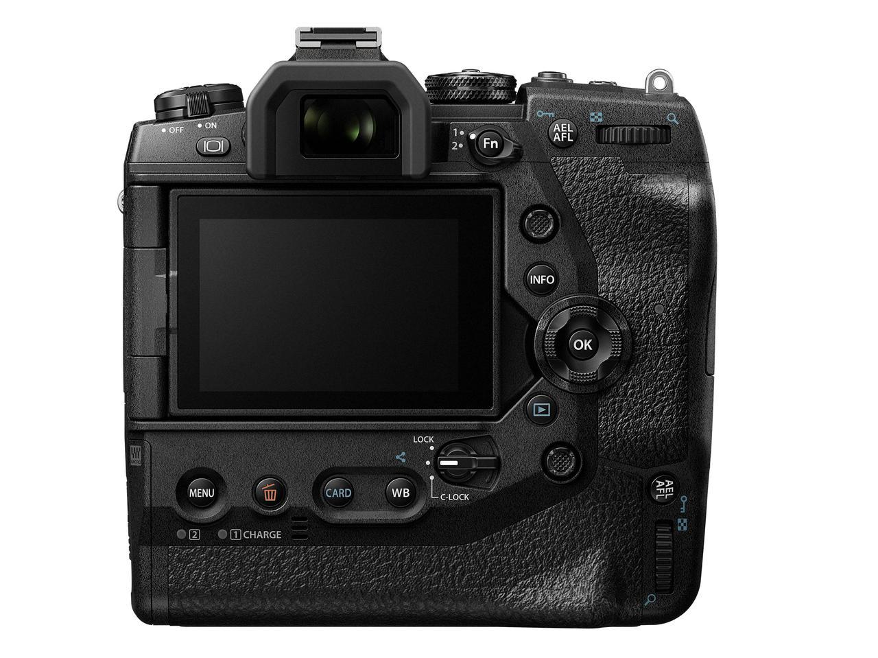 画像: OM-D E-M1X背面。マルチセレクターを装備し、AFエリアを素早く移動することが可能。