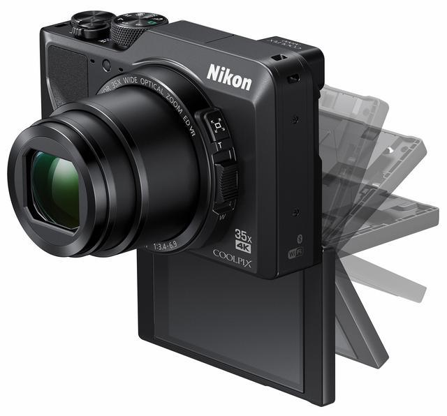 画像: 3型チルト式画像モニター上に135°、下に180°可動する