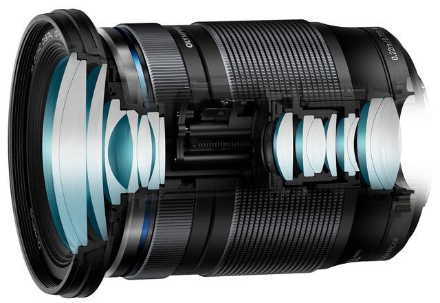 画像: M.ZUIKO DIGITAL ED 12-200mmF3.5-6.3のレンズ構成。