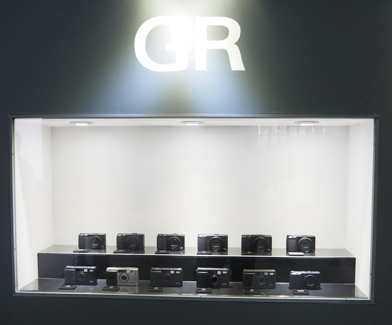 画像: ▲歴代のGRが一堂に会して展示。