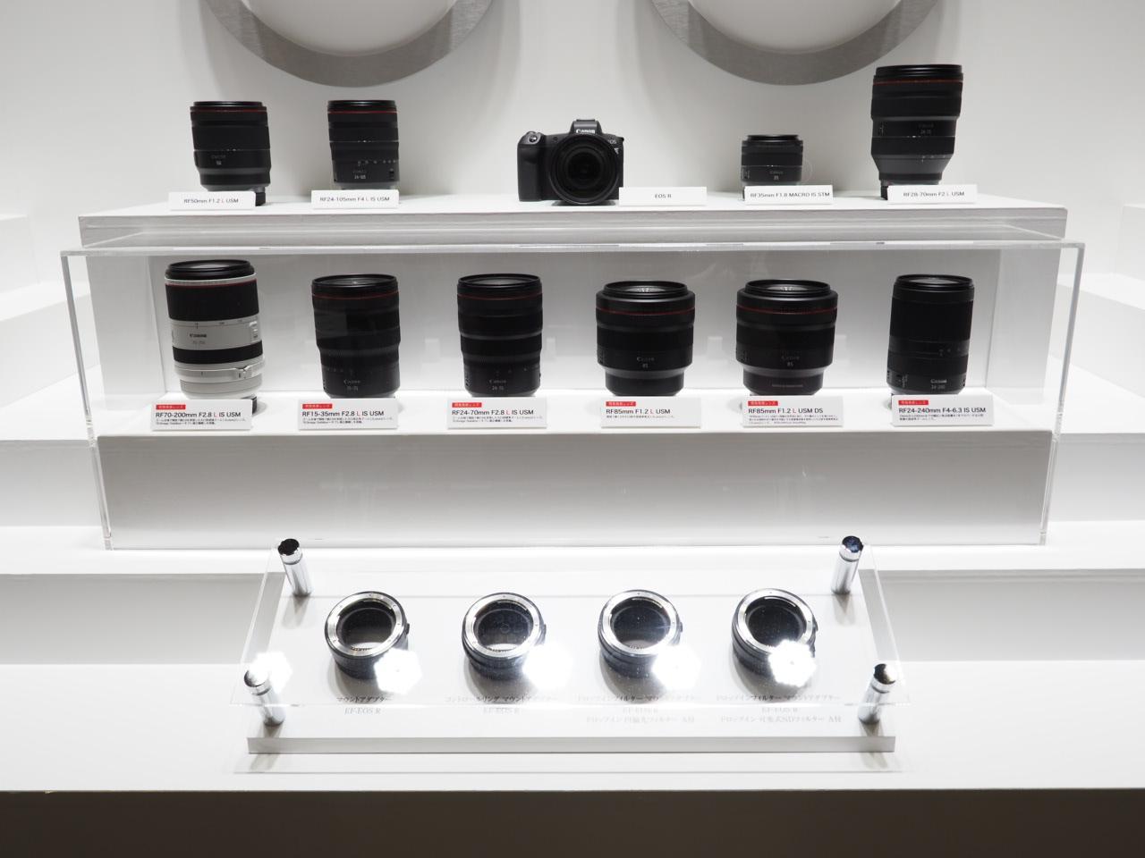 画像1: RFマウントの開発中レンズ 6本のモックも展示されています!
