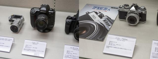 画像: 平成11年に手に届くデジタル一眼レフとして登場したニコンD1と平成13年登場のハイブリッドシャッター搭載のニコンFM3A