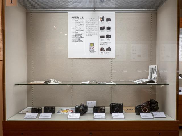 画像: 平成元年(1989年)のカメラの展示