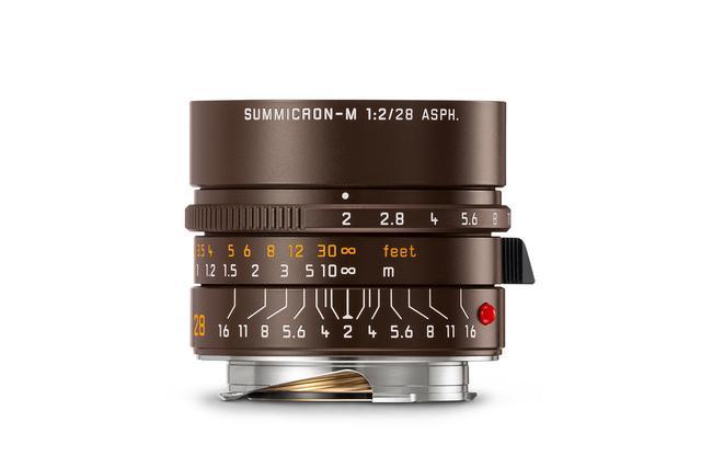 画像: セピアブラウンペイントのライカ ズミクロン M f2/28mm ASPH.