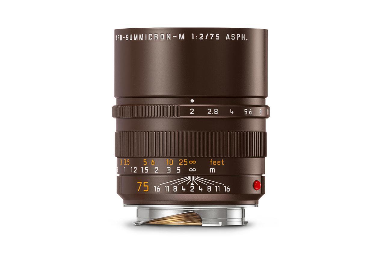 画像: セピアブラウンペイントのライカ アポ・ズミクロン M f2/75mm ASPH.