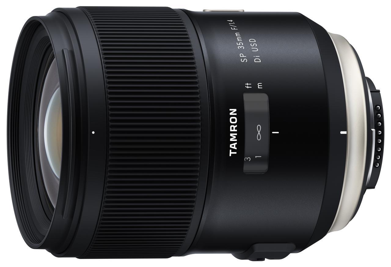 画像: SP 35mm F/1.4 Di USD (Model F045)。 SP 35mm F/1.8との違いはF1.8は小型・軽量で手ブレ補正機構を搭載。