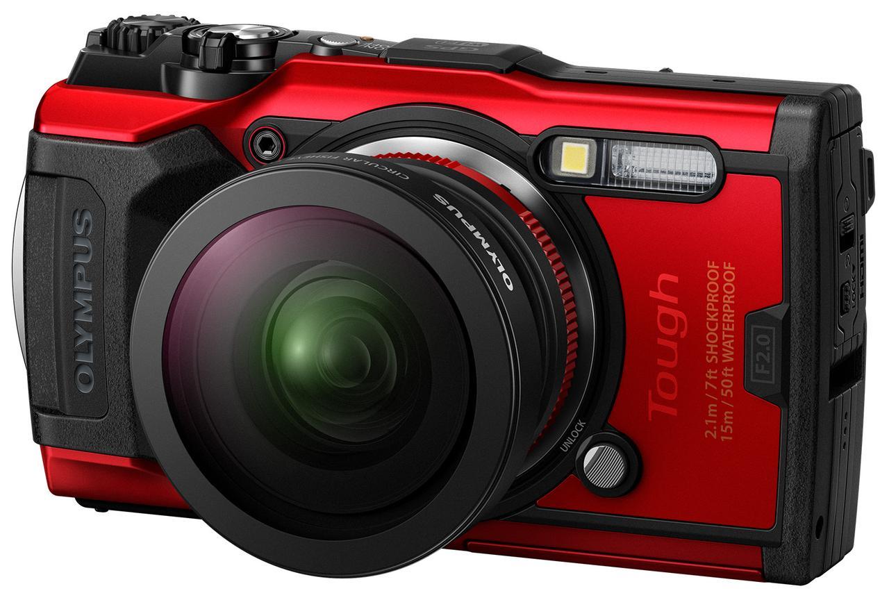 画像: 全周魚眼撮影が可能なフィッシュアイコンバーターレンズFCON-T02を装着したTG-6。