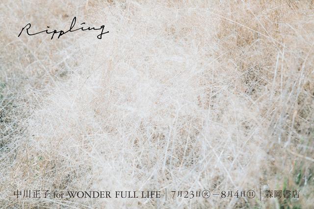 画像: 「Rippling」 for WONDER FULL LIFE刊行記念展のDMより。「Rippling」は、ひとところに止まらずみるみる広がる波紋などを意味するそうです。