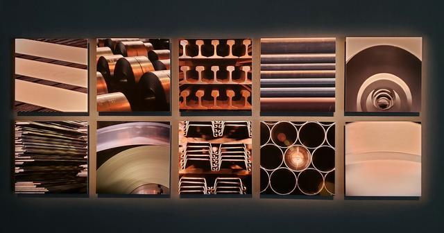 画像: 無機質で均質な姿となって現れた鋼の製品たち。