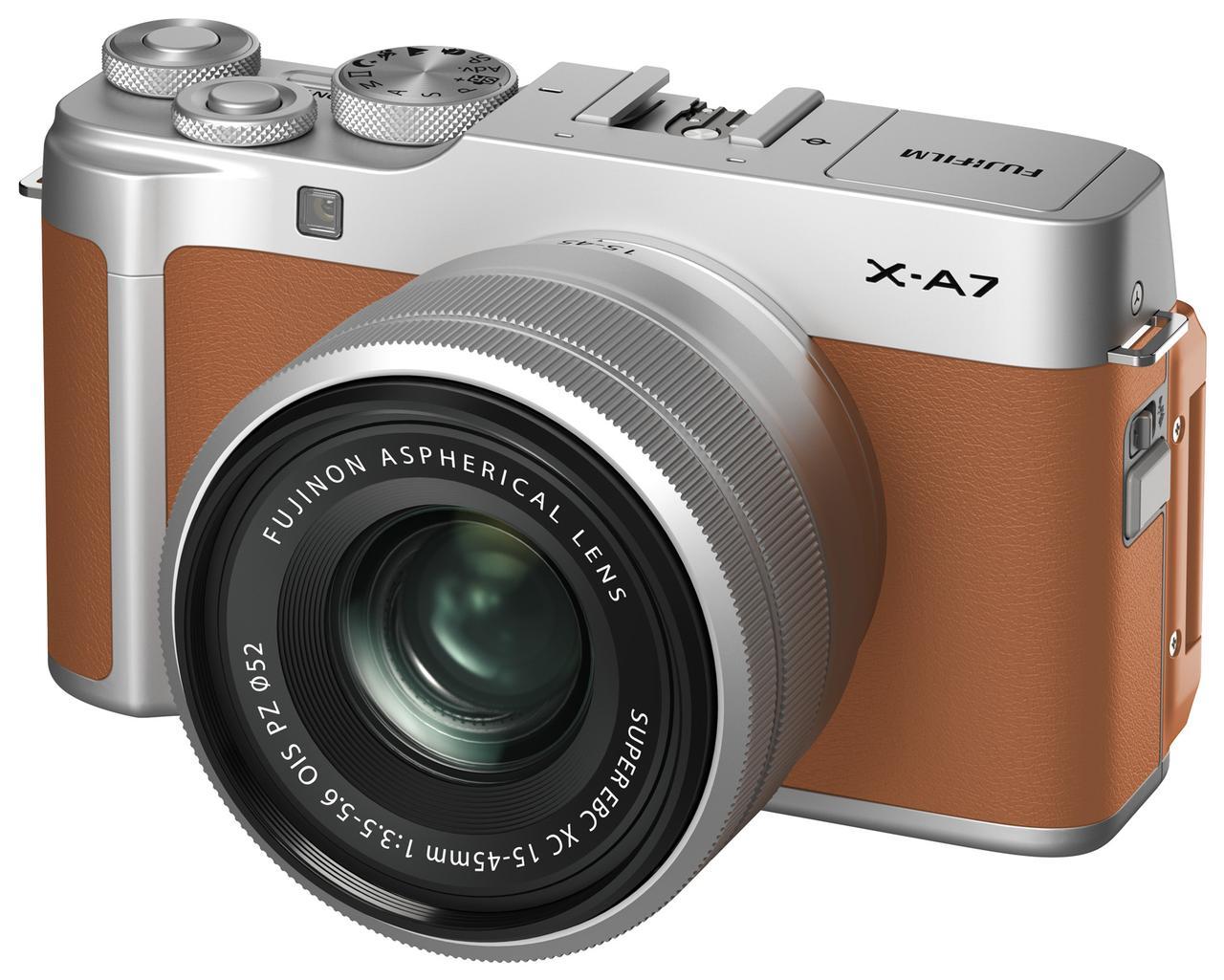 画像: X-A7キャメル。カラーはシルバーのほかにキャメルの2色