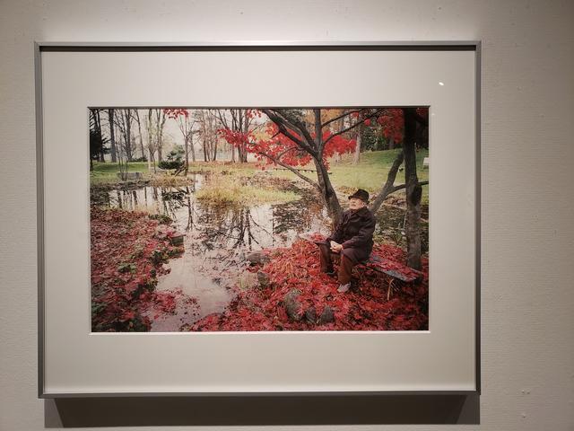 画像: 展示作品。 菱谷良一さん、97歳、2018年11月14日、北海道教育大学旭川分校(旧旭川師範学校)