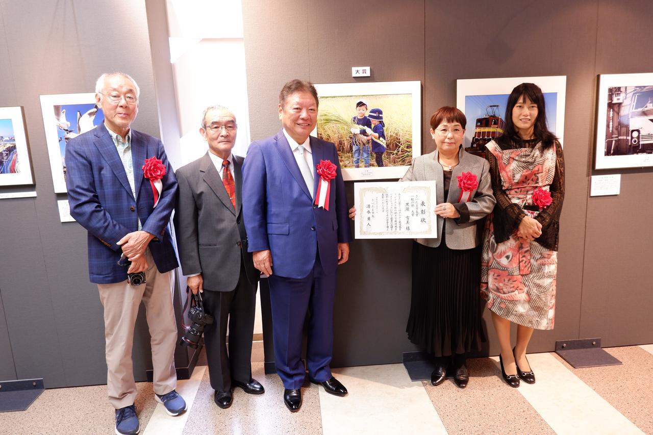 画像: 一般の部の大賞を受賞した「黒須雪美さん」 タイトルは「ドクターイエロー、田んぼを走る」