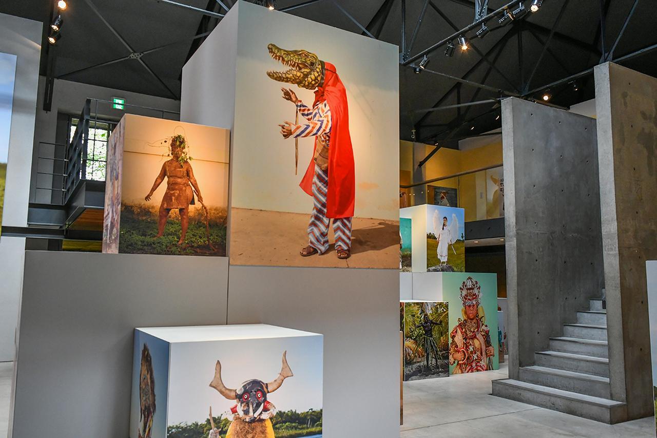画像: 「シャルル・フレジェ」の作品群『CIMMARON』(シマロン)で構成された屋内展示。