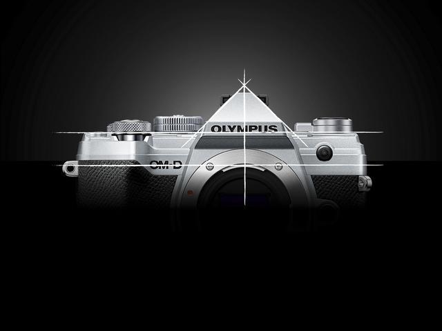 画像: ▲OMシステムの伝統的なデザインを継承。ファインダー部のデルタカットにより、一目で「OM-D」シリーズと分かる。