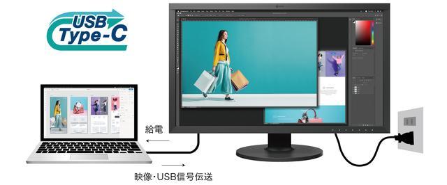 画像: ケーブル1本で接続でき、ノートPCに給電も可能