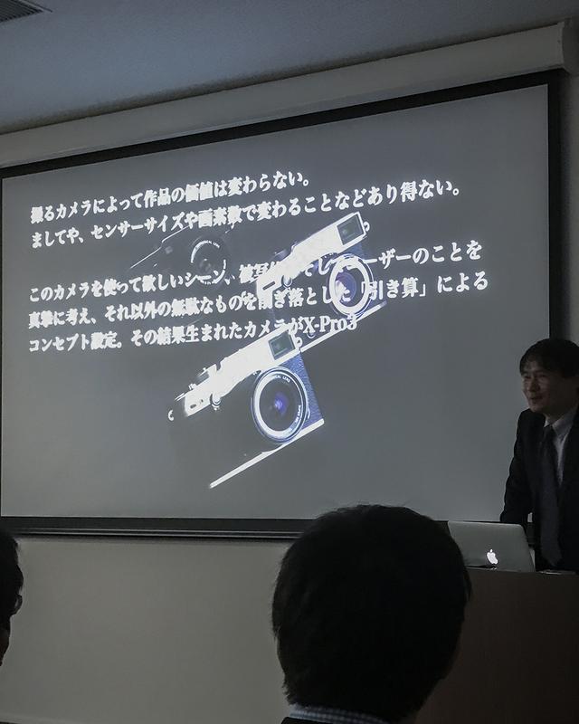 画像: このカメラの基本ポリシーの宣言。無駄なものをそぎ落とした「引き算」によるコンセプト設定を説明。