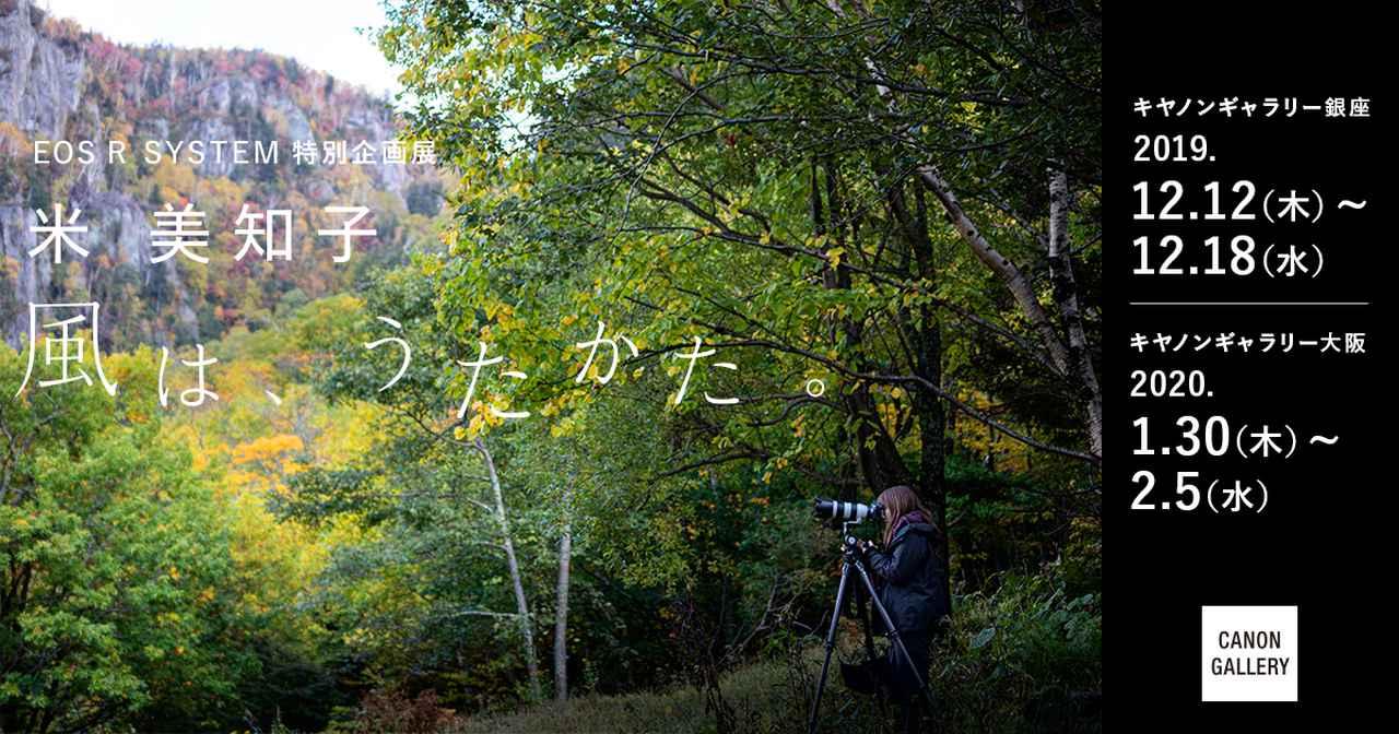 画像: [Canon]EOS R  SYSTEMブランドサイト 特別企画展 米 美知子 風は、うたかた。