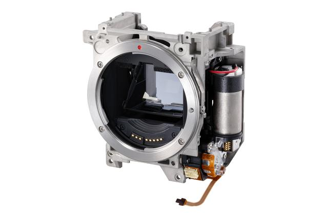 画像: 16コマ/秒の高速連写を実現するミラーボックスユニット
