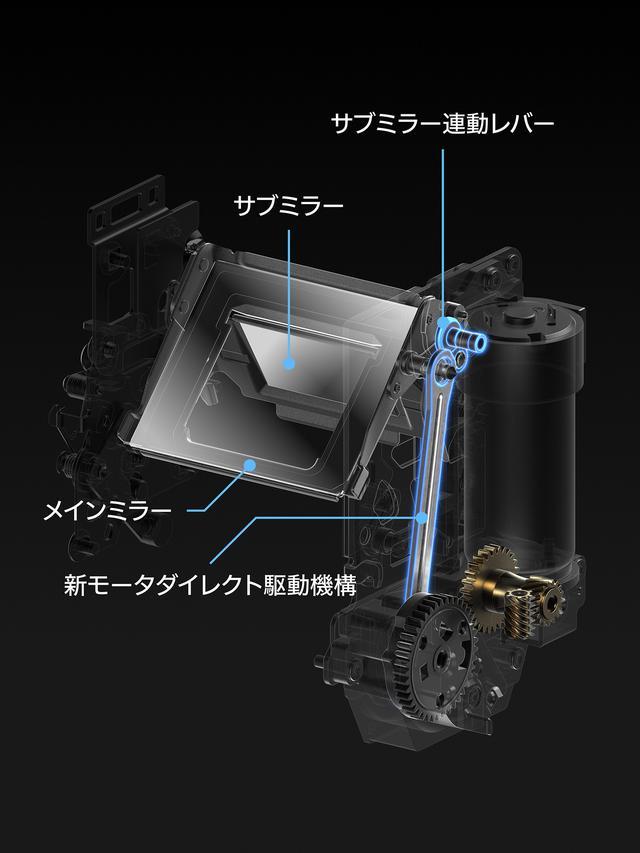 画像: 16コマ/秒の高速連写を実現するミラー機構 イメージ