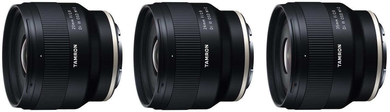 画像: 寄れるコンパクトな単焦点レンズ3本発表タムロン20mm F/2.8 Di III OSD M1:2(Model F050)タムロン24mm F/2.8 Di III OSD M1:2(Model F051)タムロン35mm F/2.8 Di III OSD M1:2(Model F053) - Webカメラマン