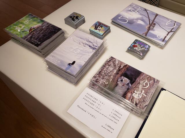画像: 会場では、ポストカードブック(各1,500円)も販売中です。また、ご購入いただいた方には先着順で「りす」に「リスキー」、「だ」に「カセイフハリス」、「もん」には「カミナリス」のシールのプレゼントも!(写真集の 「りすぱら」完売しました。)