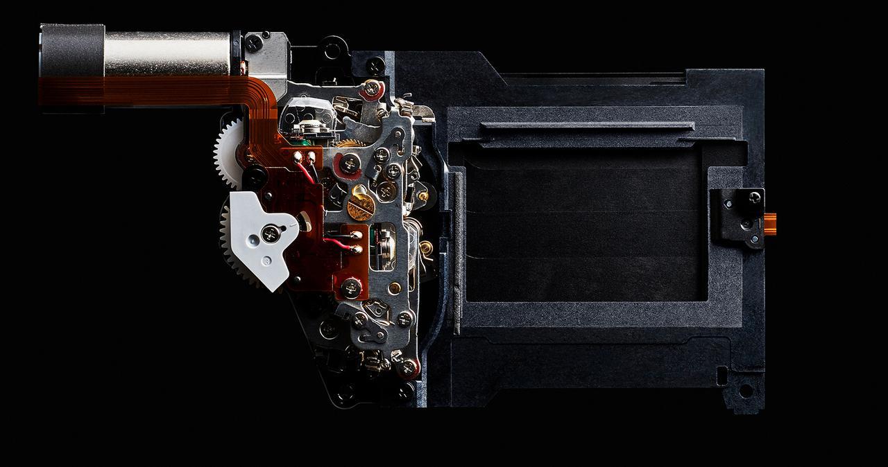 画像: 高精度、40万回高耐久性シャッターユニット