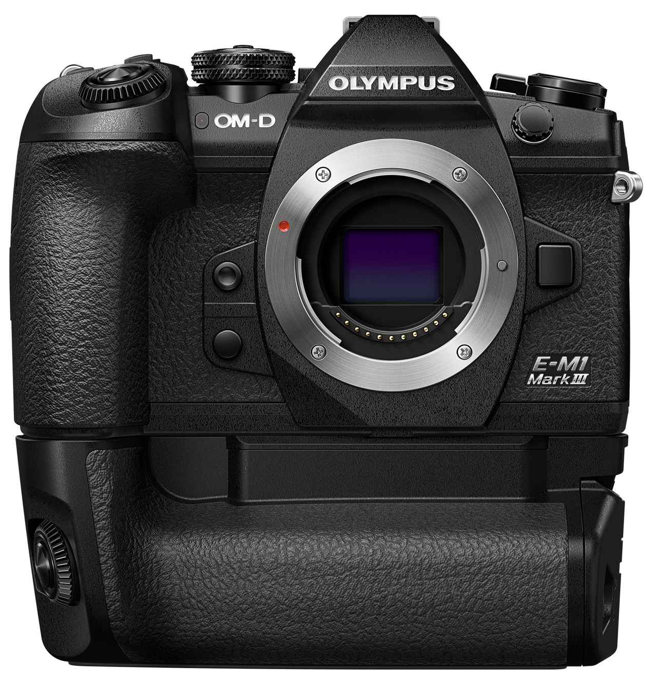 画像: OLYMPUS OM-D E-M1 Mark III バッテリーホルダーHLD-9装着時