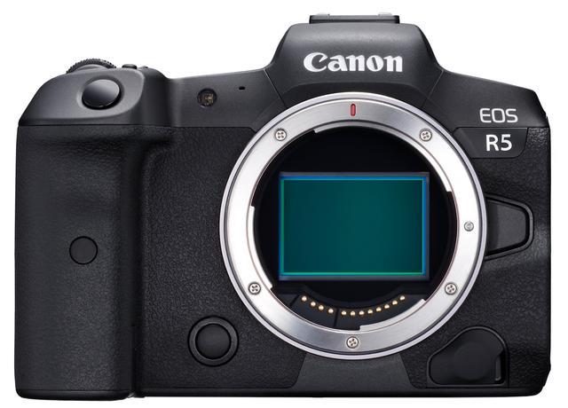 画像: Canon EOS R5 正面