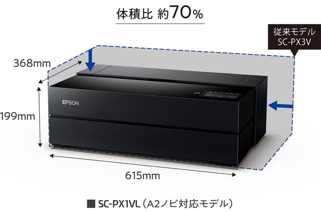 画像: EPSON SC-PX1VL(A2ノビ対応)従来モデルとのサイズ比較
