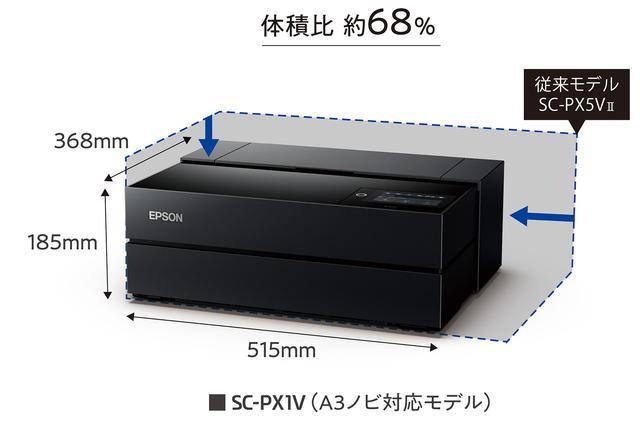 画像: EPSON SC-PX1V(A3ノビ対応)従来モデルとのサイズ比較
