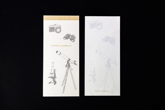 画像: ニコンミュージアムオリジナル一筆箋。税込価格:500円