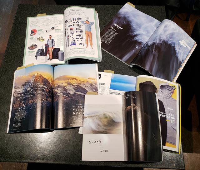 画像: 会場では、熊野さんご自身や写真作品、本展等について紹介された掲載誌もご覧いただけます。