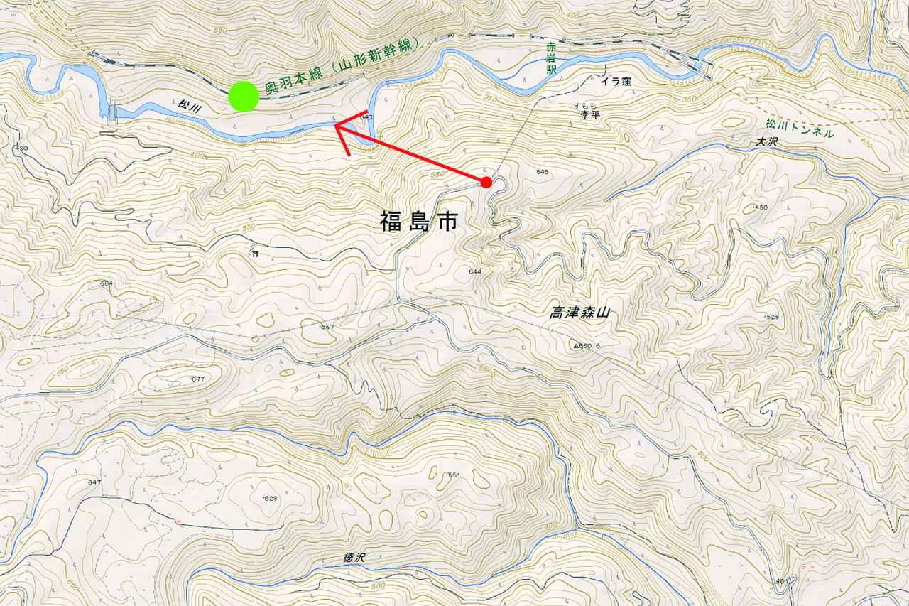 画像: 奥羽本線 赤岩~板谷